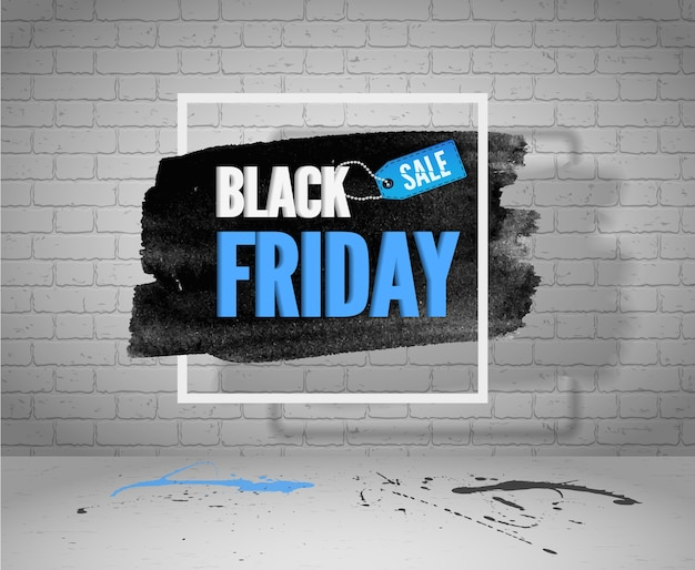 Banner di grunge vendita venerdì nero per web o pubblicità