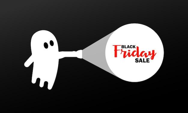 Vendita venerdì nero per banner di halloween. prezzo basso. vettore su sfondo isolato. env 10.