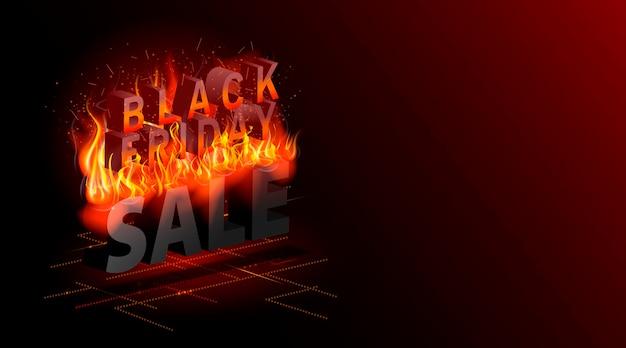 Vendita del black friday sconti più caldi web landing page shopping affare concetto di vendita