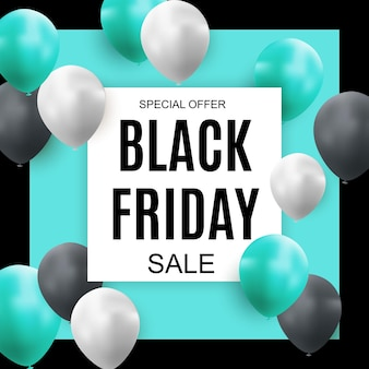 Modello di progettazione banner iscrizione vendita venerdì nero. illustrazione vettoriale eps10