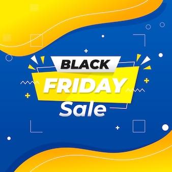 Bandiera blu e arancione minima di vendita del venerdì nero