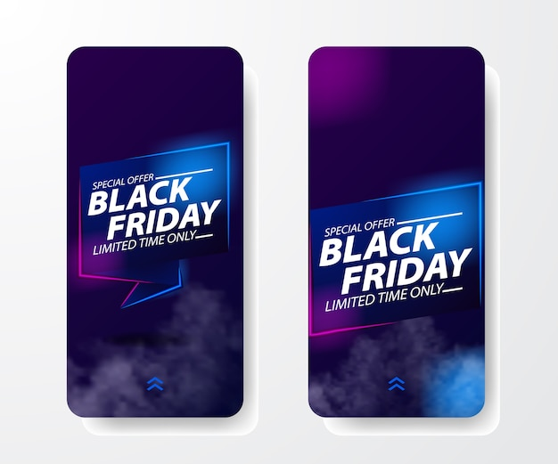 Banner di offerta di vendita venerdì nero
