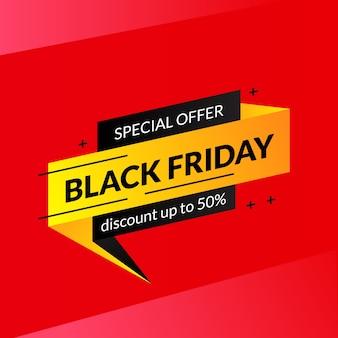 Concetto dell'illustrazione del modello dell'insegna di sconto di offerta di vendita di venerdì nero