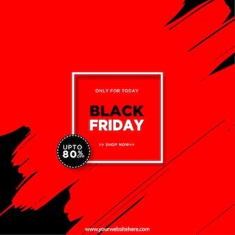 Vendita venerdì nero solo per oggi rettangolo e sfondo astratto