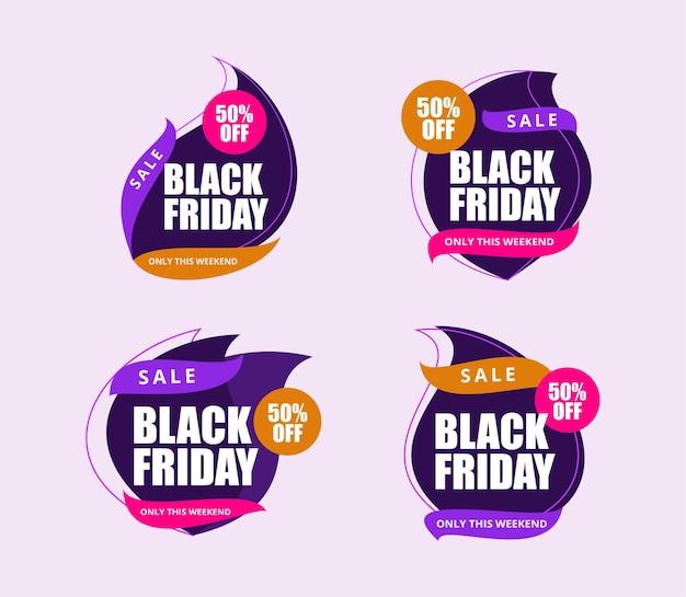 Banner promozione vendita venerdì nero per banner poster brochure pagine di destinazione certificati aziende