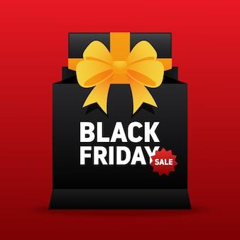 Illustrazione di promozione di vendita del black friday