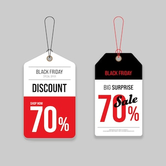 Promozione vendita venerdì nero e cartellino del prezzo scontato offerta speciale
