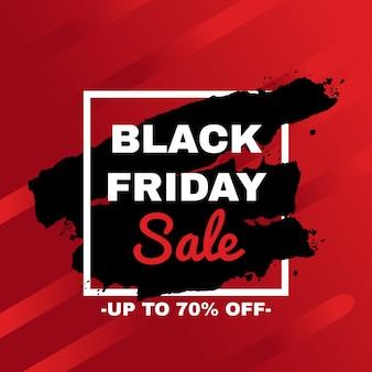 Pubblicità della campagna promozionale di vendita del black friday.