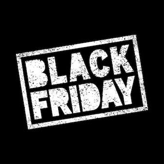 Venerdì nero vendita scribble grunge timbro bianco sul nero