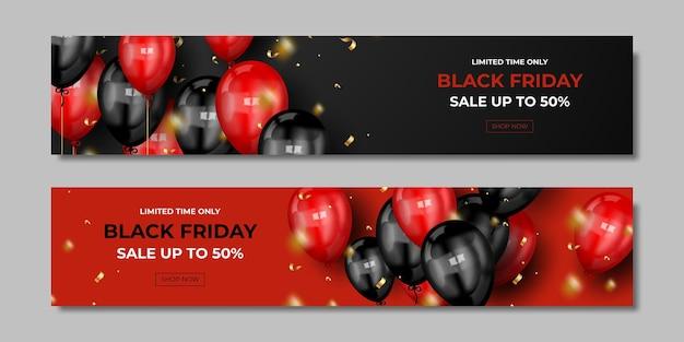 Set di poster per la vendita del black friday