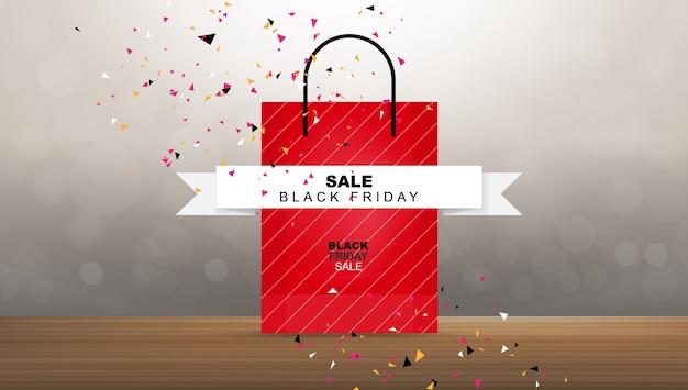Saldi del black friday. modello di promozione dello shopping