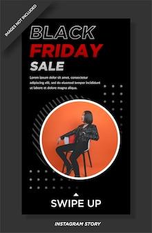 Storie di vendita del black friday social mediatemplate