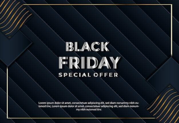 Layout del modello di vendita venerdì nero