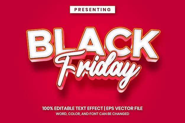 Effetto di testo in vendita venerdì nero con uno stile audace e divertente