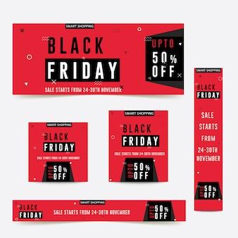 Modello di volantino per l'annuncio pubblicitario di vendita del venerdì nero