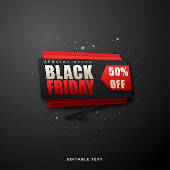 Vendita venerdì nero con scritta su una pila di carta spessa.