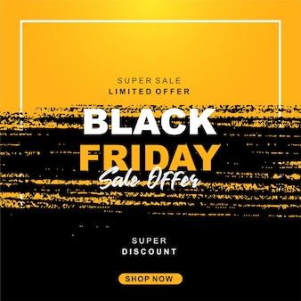 Venerdì nero vendita sfondo giallo e nero b