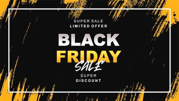 Venerdì nero vendita sfondo giallo e nero c