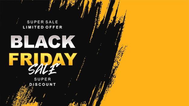 Venerdì nero vendita sfondo giallo e nero d