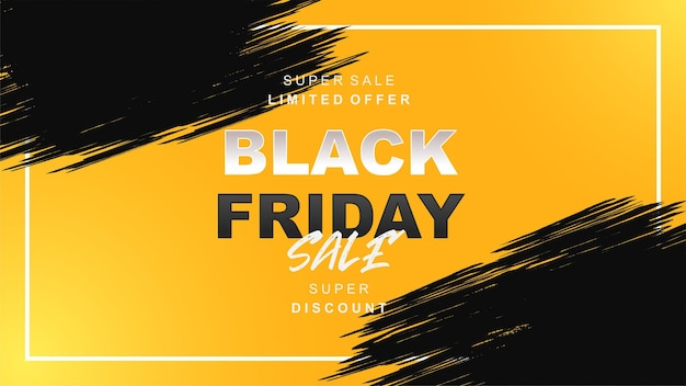 Venerdì nero vendita sfondo giallo e nero e