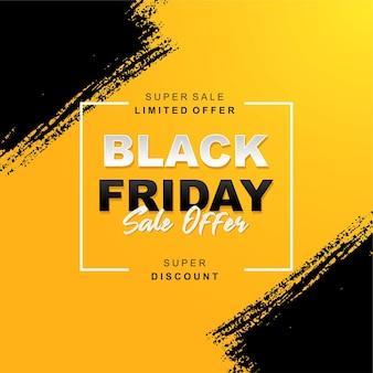 Venerdì nero vendita sfondo giallo e nero a