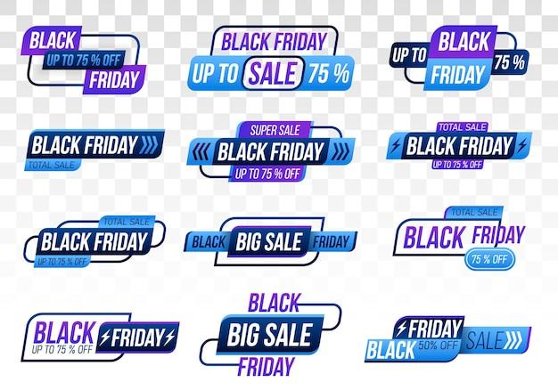 Etichette dello shopping del black friday