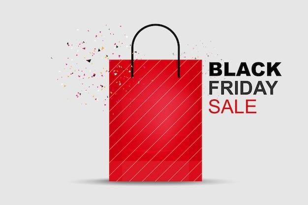 Venerdì nero . modello di promozione dello shopping