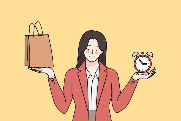 Concetto di vendita dello shopping venerdì nero