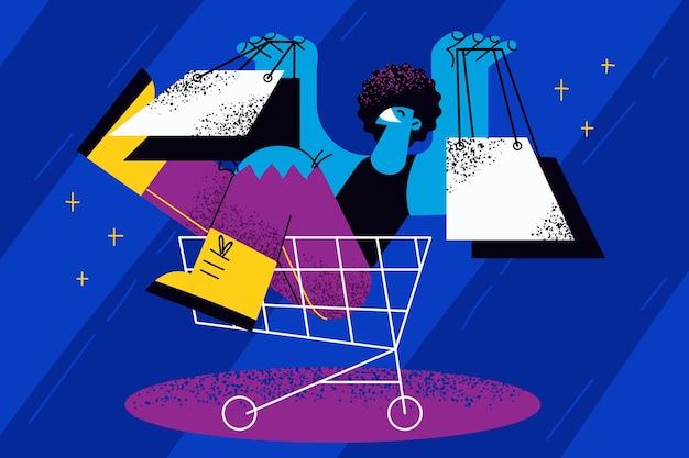 Venerdì nero, shopping, concetto di vendita