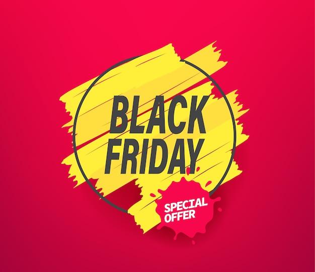 Banner pubblicitario di offerta speciale venerdì nero