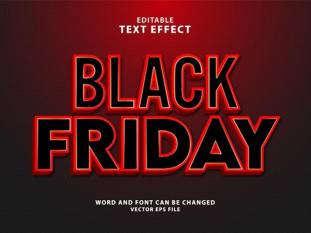 Effetto di testo modificabile 3d del venerdì nero super vendita