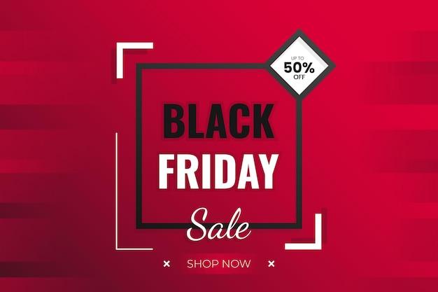 Venerdì nero super vendita sfondo con forma abstrack e disegno vettoriale sfumato rosso scuro stile moderno