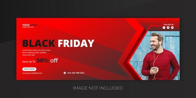 Foto di copertina della super vendita del black friday e modello di banner di facebook