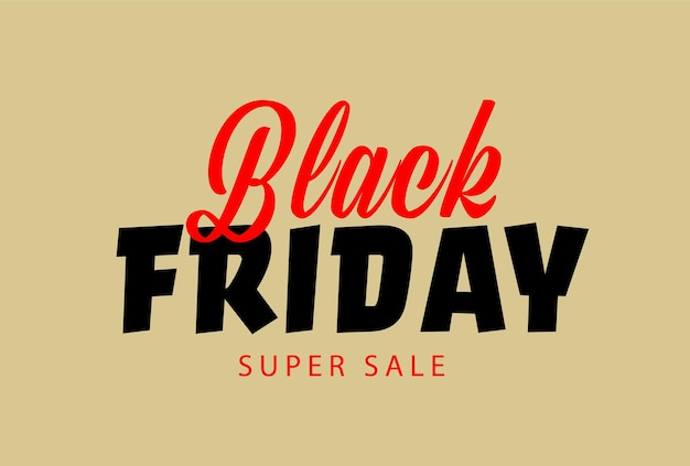Modello di poster o banner di super vendita del black friday