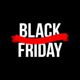 Banner di testo del black friday. Vettore Premium