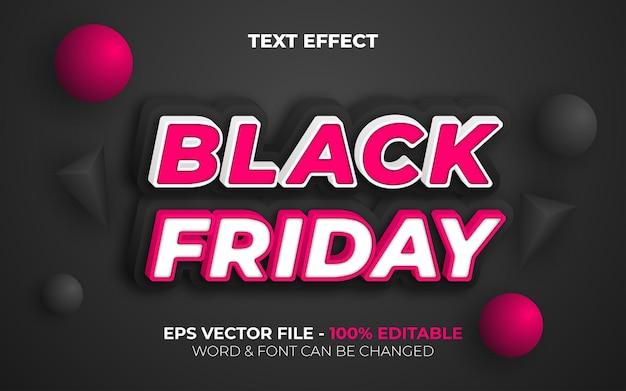 Stile effetto testo black friday tema di vendita effetto testo modificabile