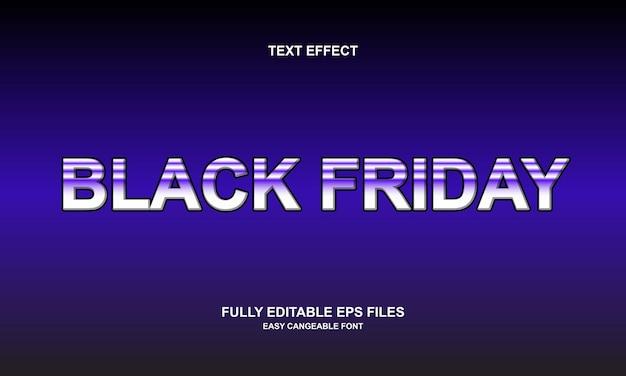 Effetto di testo del venerdì nero