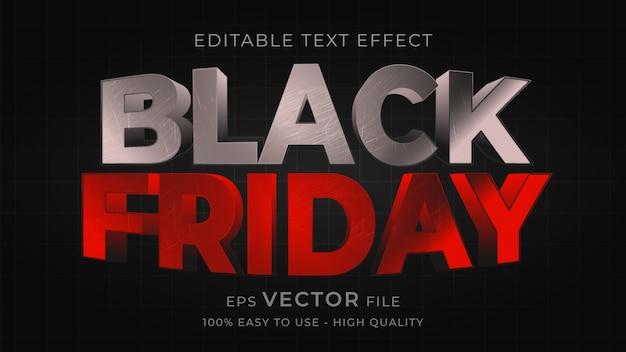 Effetto di testo modificabile di tipografia black friday