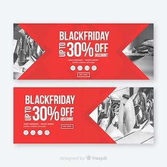 Modello di banner sito web venerdì nero Vettore Premium