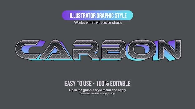 Tipografia futuristica in fibra di carbonio nera