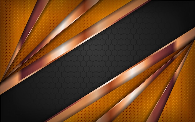 Combinazioni di nero e oro design di sfondo di lusso.