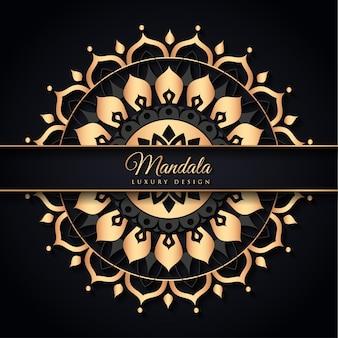 Mandala nero e oro
