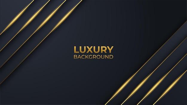 Immagine vettoriale modificabile di sfondo di lusso nero e dorato