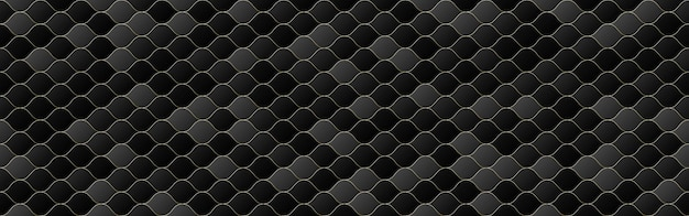 Fondo senza cuciture del modello dell'onda di colore sfumato nero e grigio, struttura geometrica della linea, stile di design minimale,