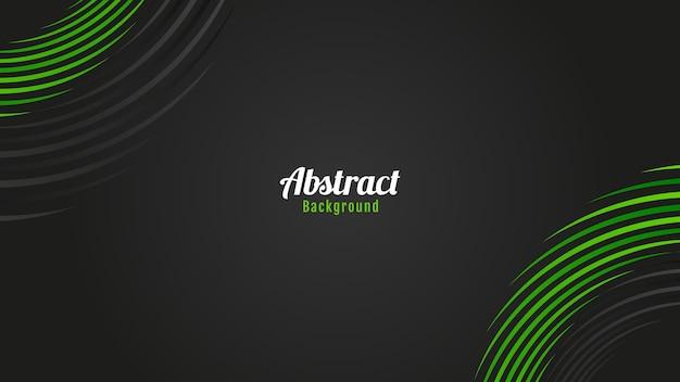 Disegno di sfondo linee cerchi neri e verdi