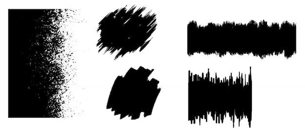 Modello di tratto pennello nero grunge