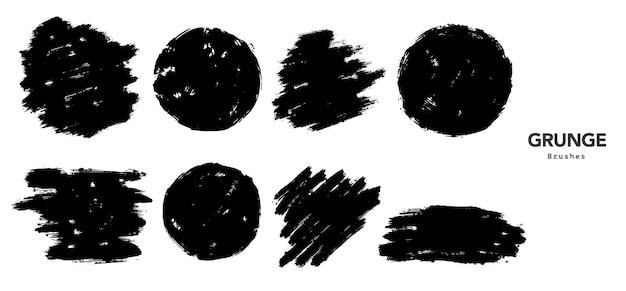 Modello di tratto di pennello grunge nero