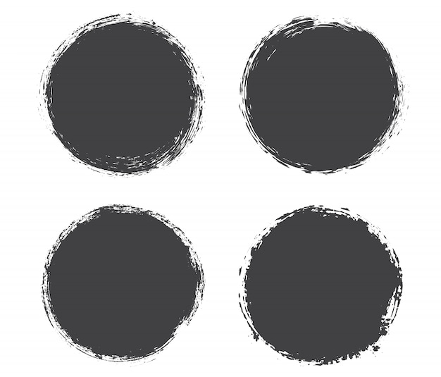 Cornici cerchio nero grunge