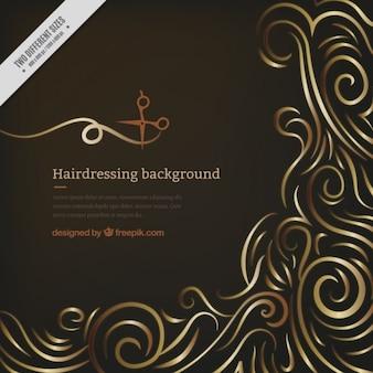 Nero salone di coiffure sfondo
