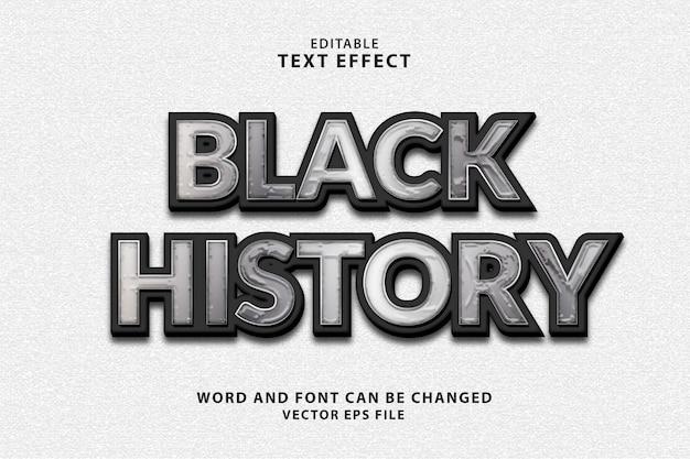 Effetto di testo 3d vettoriale eps di storia nera